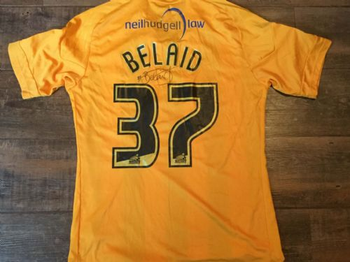 2010 2011 Hull City Belaid Match Worn Marie Curie Home Football Shirt